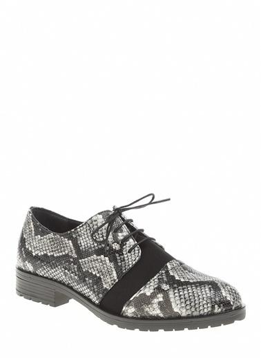 Derigo Beyaz Yılan Kadın Casuel Ayakkabı 221914 Beyaz